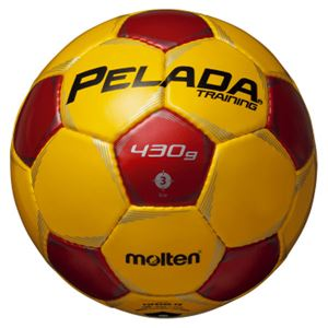 モルテン(Molten) サッカーボール3号球 ペレーダトレーニング イエロー×レッド F3P9200YR - 拡大画像