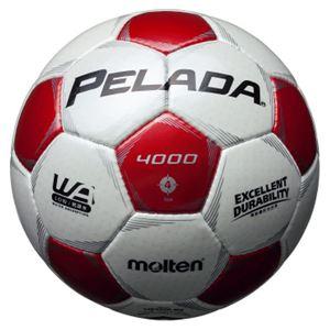 モルテン(Molten) サッカーボール4号球 ペレーダ4000 シャンパンシルバー×メタリックレッド F4P4000WR