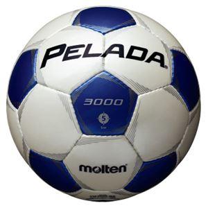 モルテン(Molten) サッカーボール5号球 ペレーダ3000 シャンパンシルバー×メタリックブルー F5P3000WB