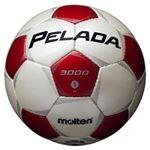 モルテン(Molten) サッカーボール5号球 ペレーダ3000 シャンパンシルバー×メタリックレッド F5P3000WR