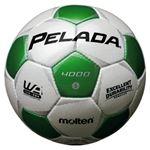 モルテン(Molten) サッカーボール5号球 ペレーダ4000 シャンパンシルバー×メタリックグリーン F5P4000WG