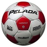 モルテン(Molten) サッカーボール5号球 ペレーダ4000 シャンパンシルバー×メタリックレッド F5P4000WR