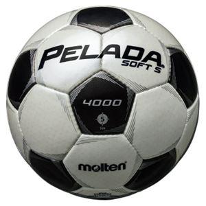 モルテン(Molten) サッカーボール5号球 ペレーダ4002 シャンパンシルバー×メタリックブラック F5P4002