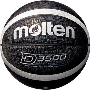 【モルテンMolten】アウトドア用バスケットボール【6号球ブラック×シルバー】人工皮革高耐摩耗性〔運動スポーツ用品〕