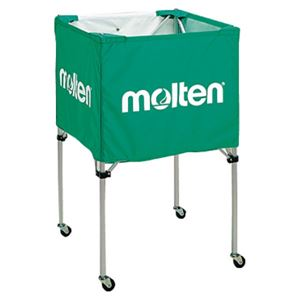 モルテン(Molten) 折りたたみ式ボールカゴ(中・背高 屋内用) 緑 BK20HG