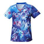 ニッタク(Nittaku) 卓球アパレル SKYCRYSTAL SHIRT(スカイクリスタルシャツ) ゲームシャツ(女子用) NW2168 ブルー O