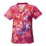 ニッタク(Nittaku) 卓球アパレル SKYCRYSTAL SHIRT(スカイクリスタルシャツ) ゲームシャツ(女子用) NW2168 ピンク O
