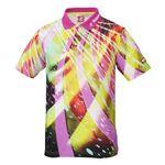 ニッタク(Nittaku) 卓球アパレル SPINADO SHIRT(スピネードシャツ) ゲームシャツ(男女兼用) NW2176 ピンク L