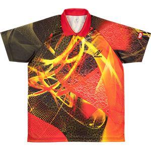 ニッタク(Nittaku) 卓球アパレル CLOUDER SHIRT(クラウダーシャツ)ゲームシャツ(男女兼用・ジュニアサイズ対応) NW2177 レッド SS