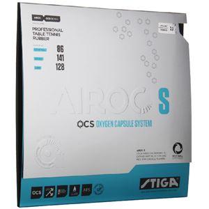 STIGA(スティガ) テンション系裏ソフトラバー AIROC S(エアロック S)ブラック 中厚