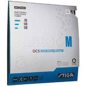 STIGA(スティガ) テンション系裏ソフトラバー AIROC M(エアロック M)ブラック 厚