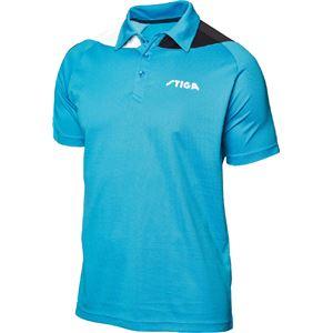 STIGA(スティガ) 卓球ユニフォーム PACIFIC SHIRT パシフィックシャツ ブルー×ブラック 2XS
