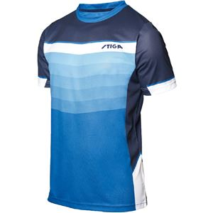 STIGA(スティガ) 卓球ユニフォーム RIVER SHIRT リバーシャツ ブルー 5XS