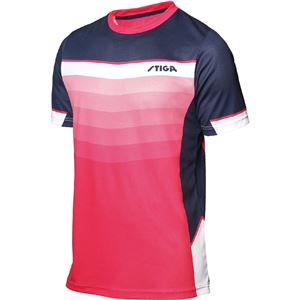 STIGA(スティガ) 卓球ユニフォーム RIVER SHIRT リバーシャツ ピンク 4XS