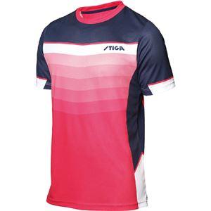 STIGA(スティガ) 卓球ユニフォーム RIVER SHIRT リバーシャツ ピンク L