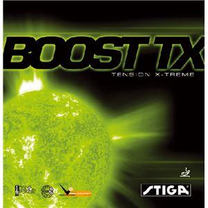 STIGA(スティガ) テンション系裏ソフトラバー BOOST TX(ブースト TX) レッド 厚