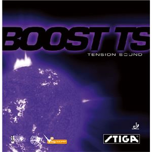 STIGA(スティガ) テンション系裏ソフトラバー BOOST TS(ブースト TS) レッド 厚