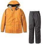 PUROMONTE(プロモンテ) Rain Wear ゴアテックス レインスーツ Men's SR135M オレンジ×チャコール XL