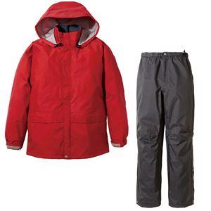 PUROMONTE(プロモンテ) Rain Wear ゴアテックス レインスーツ Men's SR135M レッド×チャコール XL