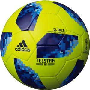 adidas(アディダス) ワールドカップ2018 テルスター18 グライダー 5号球 AF5304YB(イエロー×ブルー)