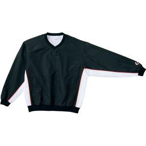 CONVERSE(コンバース) Vネックウォームアップジャケット ブラック×ホワイト SS