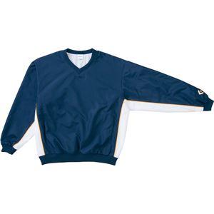 CONVERSE(コンバース) Vネックウォームアップジャケット ネイビー×ホワイト 3S