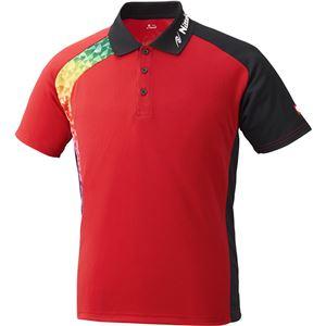 ニッタク(Nittaku)卓球アパレルBUMERANSHIRT(ブメランシャツ)ゲームシャツ(男女兼用)NW2178レッド3S