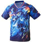 ニッタク(Nittaku)卓球アパレル SKYLEAF SHIRT(スカイリーフシャツ ) 男女兼用 NW2180 ブルー L