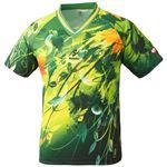 ニッタク(Nittaku)卓球アパレル SKYLEAF SHIRT(スカイリーフシャツ ) 男女兼用 NW2180 グリーン L