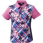 ニッタク(Nittaku)卓球アパレル FURACHECKS SHIRT(フラチェックスシャツ)ゲームシャツ(レディース)NW2181 ピンク XO
