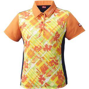ニッタク(Nittaku)卓球アパレル FURACHECKS SHIRT(フラチェックスシャツ)ゲームシャツ(レディース)NW2181 オレンジ 2XO