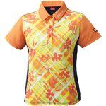 ニッタク(Nittaku)卓球アパレル FURACHECKS SHIRT(フラチェックスシャツ)ゲームシャツ(レディース)NW2181 オレンジ XO