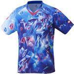 ニッタク(Nittaku)卓球アパレル UNI SKYCRYSTAL SHIRT(ユニスカイクリスタルシャツ)ゲームシャツ(男女兼用 ・ジュニアサイズ対応)NW2182 ブルー 2XO