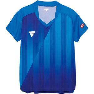 VICTAS(ヴィクタス) VICTAS V‐LS054 レディース ゲームシャツ 31468 ブルー 2XL