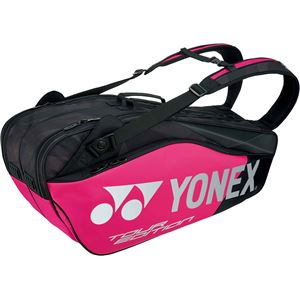 Yonex(ヨネックス)PRO SERIES ラケットバッグ6 リュック付(テニス6本用) ブラック/ピンク BAG1802R