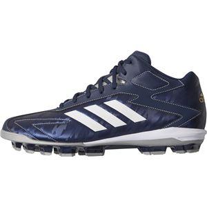 adidas(アディダス) adidas Baseball アディゼロ T3 MID ポイント カレッジネイビー×クリスタルホワイトS16×シルバーメット CQ1266 【27.5cm】