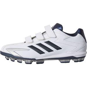 adidas(アディダス) adidas Baseball アディゼロ T3 ポイントV クリスタルホワイトS16×カレッジネイビー×シルバーメット CQ1270 【28.5cm】