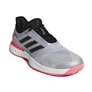 adidas(アディダス) adidas Tennis UBERSONIC 3 MULTICOURT マットシルバー×コアブラック×フラッシュレッドS15 F36722 【26.0cm】