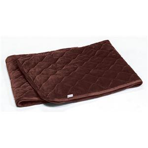 ふんわり 敷きパッド/寝具 【ワインブラウン ダブル】 洗える 通気性 保温性 中空わた 『ファイテン PHITEN 星のやすらぎ』