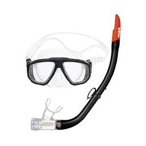 AQA(エイ・キュー・エイ)マスク&スノーケル2点セットデュオソフトII&サミーVシリコンII2点セット0100(ブラック)KZ9004