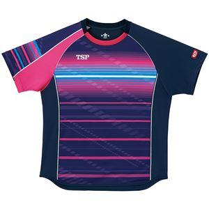 VICTAS TSP 卓球アパレル ゲームシャツ クラールシャツ 男女兼用 031428 ネイビー 2XL