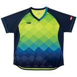 VICTAS TSP 卓球アパレル ゲームシャツ レディスリエートシャツ 女子用 032418 ライム 3XL