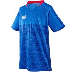 バタフライ(Butterfly) 卓球アパレル ELCREST SHIRT(エルクレスト・シャツ) 男女兼用 45440 ブルー 3S