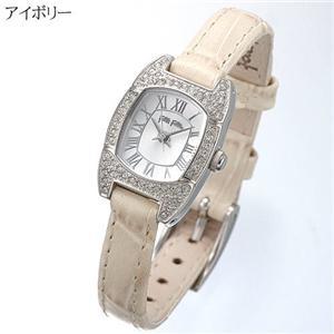 フォリフォリ 腕時計 レザーウォッチ WF7A029SPW-BE/アイボリー