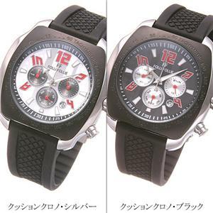 フォリフォリ 腕時計 メンズウォッチ WT7T026ZEK/クッションクロノ・ブラック