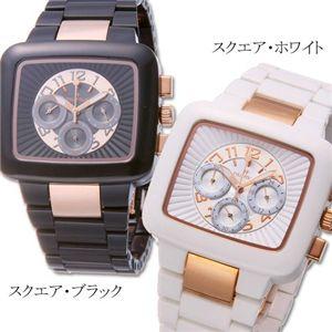 フォリフォリ 腕時計 コーリアン クロノグラフ WT7F013BCW/スクエア・ホワイト