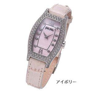 フォリフォリ 腕時計 トノーレザーウォッチ WF6A063SSP-IVY/アイボリー