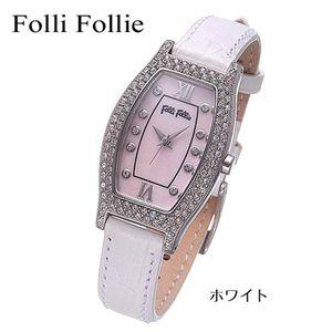 Folli Follie(フォリフォリ) トノーレザーウォッチ WF6A063SSP-WHT/ホワイト - 拡大画像