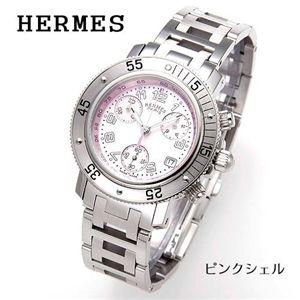HERMES クリッパーダイバークロノ シェル CL2.310.214/3841/ピンクシェル