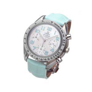 OMEGA(オメガ) 腕時計 スピードマスター レザー 3834 ライトブルー